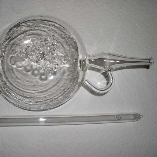 Hever sklenený s klapkou
