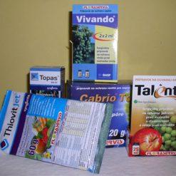 Fungicídy - proti hubovým chorobám