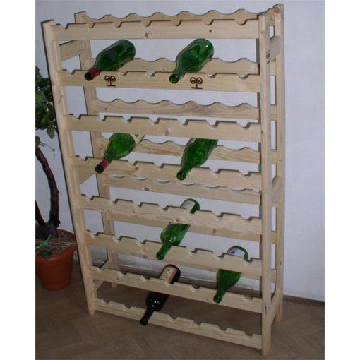 Regál drevený na 56 fliaš