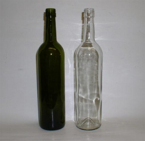 Fľaša 0,75 l na víno so závitom