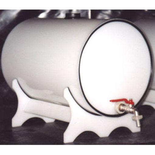 Valcová plastová nádrž (ležatá)